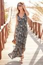 European-Collection-Palm-Print-Maxi-Dress Sale