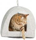 Harmony-Havana-Cat-Igloo-With-Reversible-Cushion-Grey-40cm Sale
