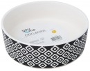 You-Me-Geometric-Ceramic-Dog-Cat-Pet-Food-Water-Dish-Bowl-Black-1340ml-Large Sale