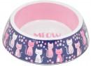 Bond-Co-Melamine-Flowers-Meow-Cat-Bowl-Pink Sale