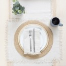 Ashra-Fringed-Beige-Table-Linen-by-M.U.S.E Sale