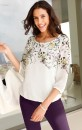 Euro-Edit-34-Sleeve-Floral-Print-Top Sale