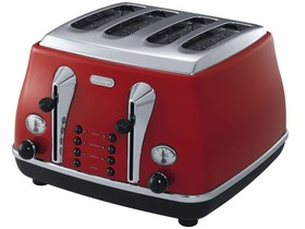 DeLonghi-CTO4003R-Icona-4-Slice-Toaster-Red on sale