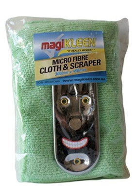 Magikleen-MAGSMFC3040S-Microfibre-Cloth-with-Scraper on sale