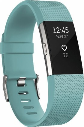 Fitbit-FB407STES-Charge-2-Fitness-Wristband-Teal-Small on sale