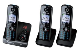 Panasonic-KX-TG8163ALB-Cordless-Phone-Triple-Pack on sale