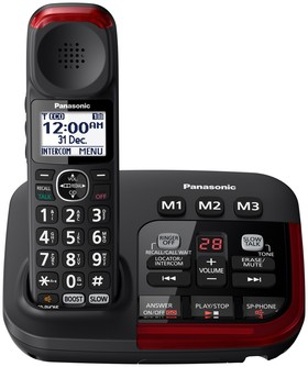 Panasonic-Amplified-Cordless-Telephone-KX-TGM420AZB on sale