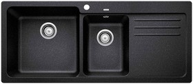 Blanco-NAYA8S-Double-Bowl-Sink-with-Drainer-Anthracite on sale