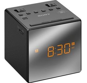 Sony-Dual-Alarm-AMFM-Clock-Radio-Black on sale
