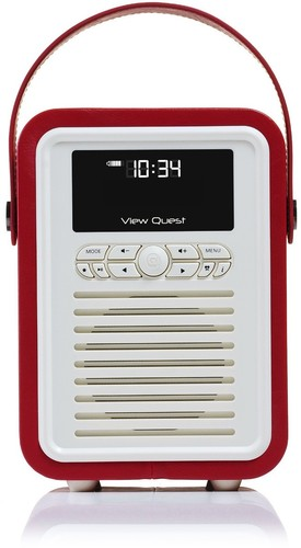 VQ-Retro-Mini-DAB-Radio-VQ-MINI-RD-Red on sale