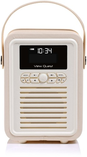 VQ-Retro-Mini-DAB-Radio-VQ-MINI-CR-Cream on sale