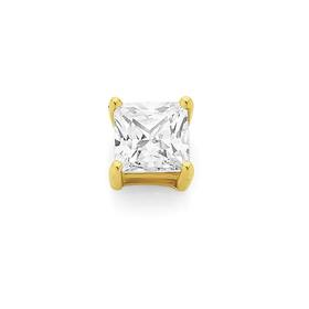 9ct-Gold-6mm-Square-CZ-Single-Claw-Set-Stud on sale