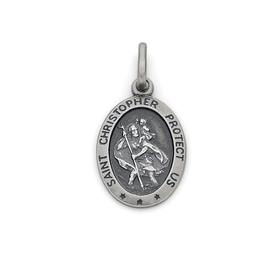 Silver-Oval-St.-Christopher-Medal on sale