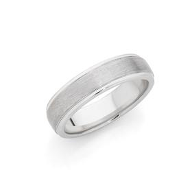 Silver-Satin-Centre-Comfort-Fit-Ring on sale