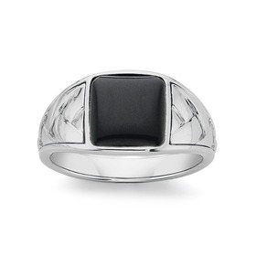 Silver-Square-Onyx-Plaited-Band on sale