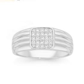 Silver-Centre-Square-Pave-CZ-Mens-Ring on sale