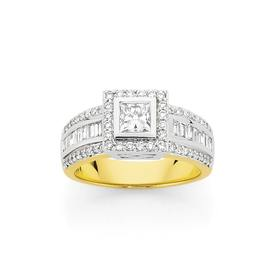 18ct-Two-Tone-Diamond-Engagement-Ring on sale