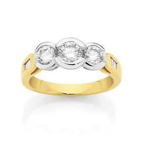 18ct-Gold-Two-Tone-Diamond-Ring on sale