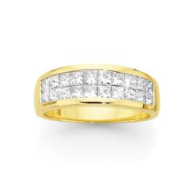 18ct-Gold-Diamond-Band on sale