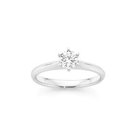 18ct-White-Gold-Diamond-Solitaire-Engagement-Ring on sale