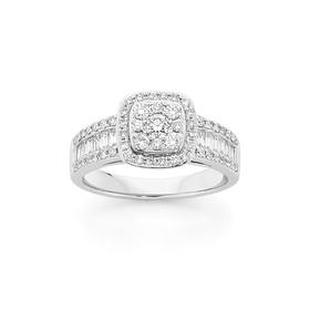 18ct-White-Gold-Diamond-Engagement-Ring on sale