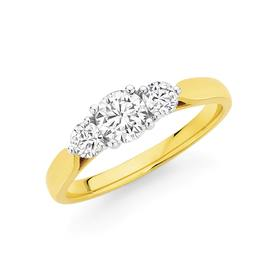 18ct-Gold-Diamond-Trilogy-Ring on sale