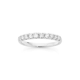 18ct-White-Gold-Diamond-Anniversary-Band on sale