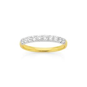 18ct-Two-Tone-Diamond-Ring on sale