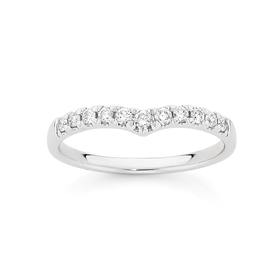 9ct-White-Gold-Diamond-Curved-Band on sale