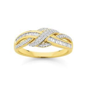 9ct-Gold-Diamond-Ring on sale