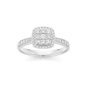 9ct-White-Gold-Diamond-Cluster-Ring on sale