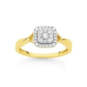 9ct-Gold-Diamond-Crossover-Ring on sale