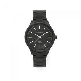 Chisel-Mens-Black-Tone-Round-Black-Dial-30-Meters-Water-Resistant-Watch on sale