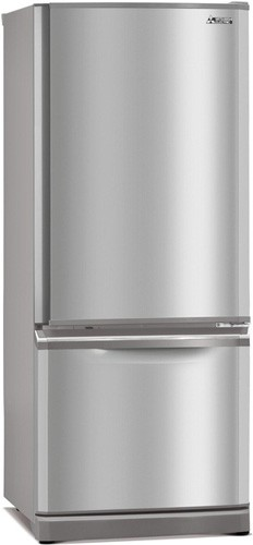 Mitsubishi-325L-Bottom-Mount-Fridge-MR-BF325C-ST-A on sale