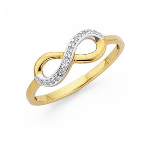 9ct-Gold-Diamond-Infinity-Ring on sale