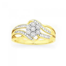 9ct-Gold-Diamond-Miracle-Set-Cluster-Ring on sale