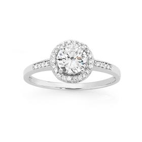 Sterling-Silver-Small-Round-Cubic-Zirconia-Cluster-Ring on sale