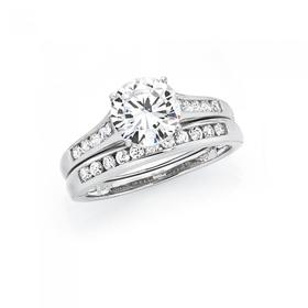 Sterling-Silver-CZ-Solitaire-Channel-Set-Ring- on sale