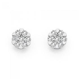 9ct-Two-Tone-Diamond-Studs on sale