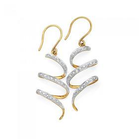 9ct-Gold-Diamond-Drop-Earrings on sale