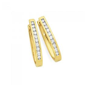 9ct-Gold-Diamond-Channel-Set-Hoops on sale