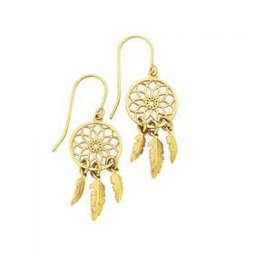 9ct-Gold-Dream-Catcher-Drop-Earrings on sale