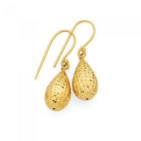 9ct-Gold-Bomber-Drop-Earrings on sale