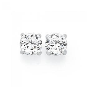 Silver-6mm-Claw-Set-Stud-Earrings on sale