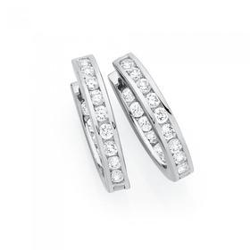 Silver-15mm-Channel-Set-Cubic-Zirconia-Inside-Out-Hoop-Earrings on sale