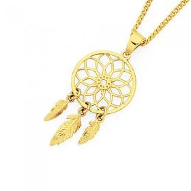 9ct-Gold-Dream-Catcher-Pendant on sale