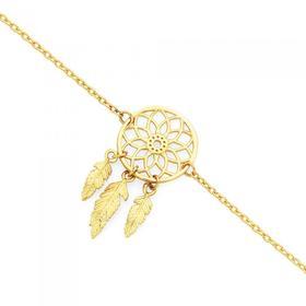 9ct-Gold-19cm-Dream-Catcher-Trace-Bracelet on sale
