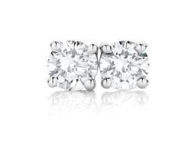 9ct-White-Gold-Diamond-Studs on sale