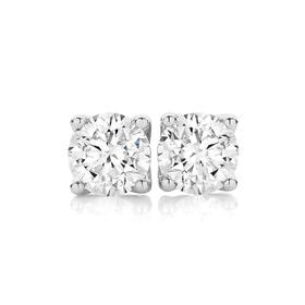 18ct-White-Gold-Diamond-Round-Brilliant-Stud-Earrings on sale