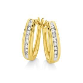 9ct-Diamond-Huggie-Earrings on sale
